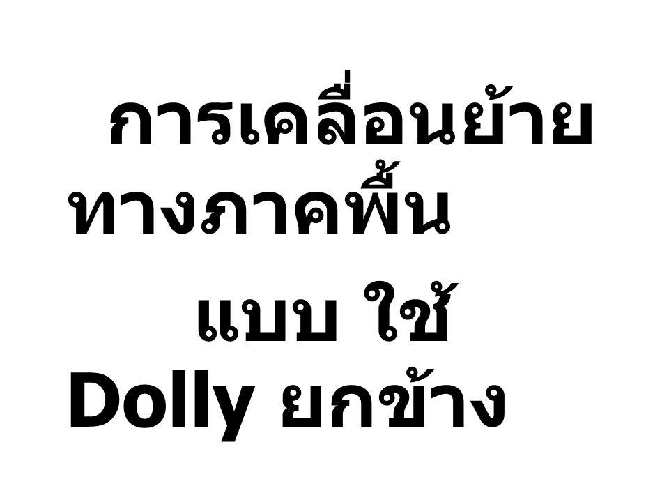 การเคลื่อนย้าย ทางภาคพื้น แบบ ใช้ Dolly ยกข้าง