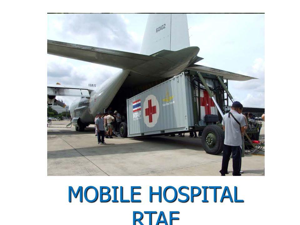 ระบบโรงพยาบาลสนามจาก EADS Defence & Security กองทัพอากาศไทยได้รับมอบปี 2553 TransHospital ประกอบด้วย เต้นท์จำนวน 2 เต้นท์ ห้องผ่าตัดเป็นตู้คอนเทนเนอร์ ขนาด 8 ฟุต x 8 ฟุต x 20 ฟุต โมดูลเชื่อมต่อระหว่างห้องต่าง ๆ ระบบจัดการน้ำ ไฟฟ้า ระบบปั่นไฟ และตู้ สำหรับเคลื่อนย้าย