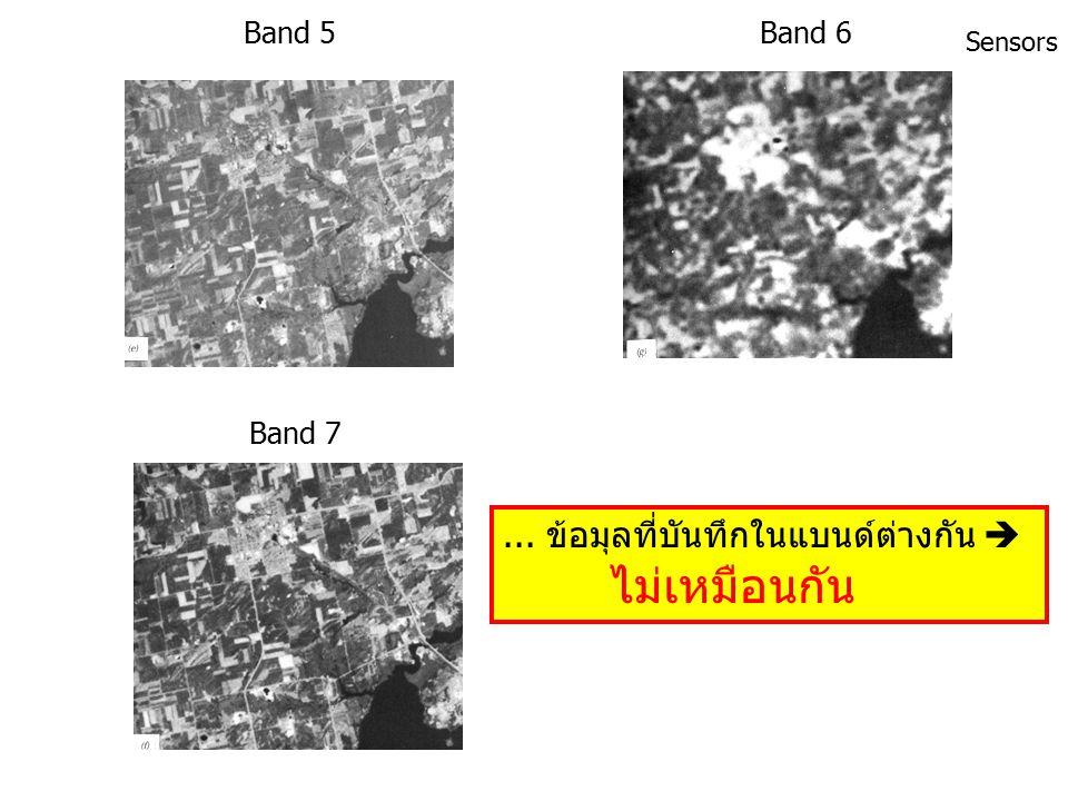 Band 1Band 2 Band 3Band 4 Sensors