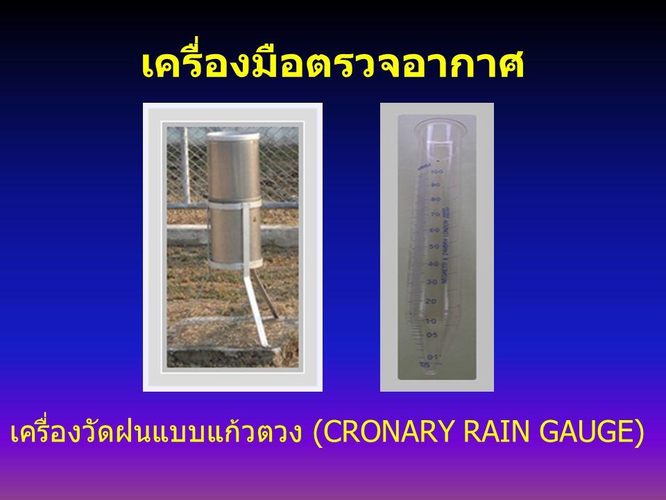 เครื่องมือตรวจอากาศ เครื่องวัดฝนแบบแก้วตวง (CRONARY RAIN GAUGE)