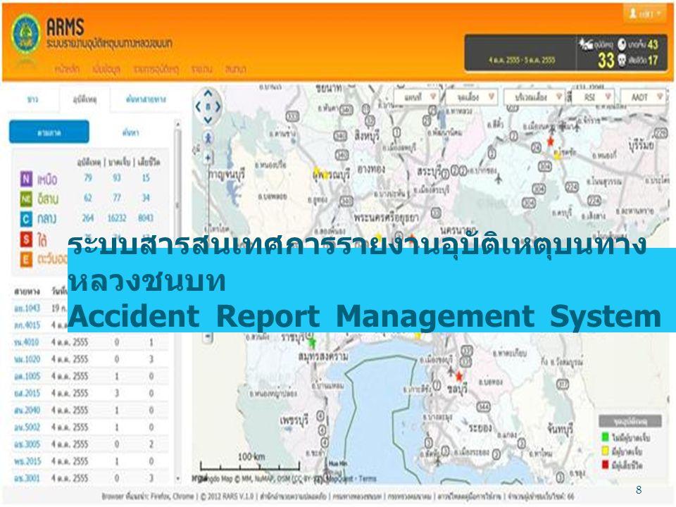 ระบบสารสนเทศการรายงานอุบัติเหตุบนทาง หลวงชนบท Accident Report Management System 8
