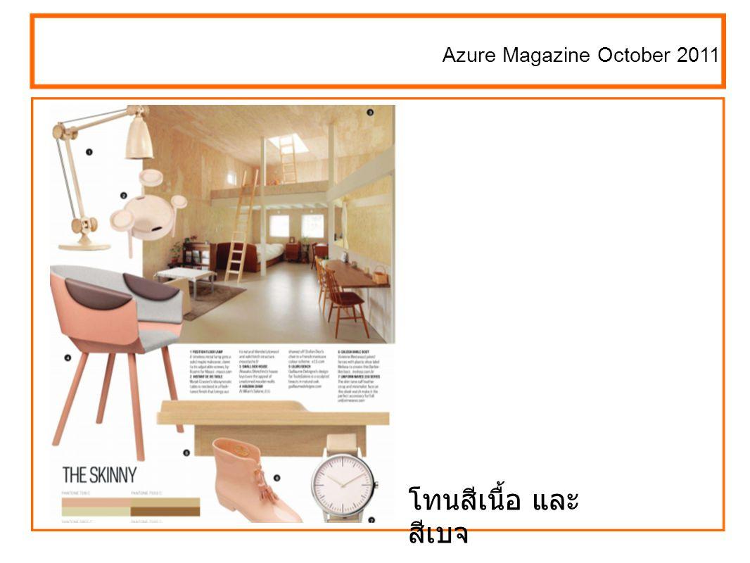 Azure Magazine October 2011 โทนสีเนื้อ และ สีเบจ