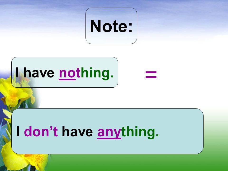 Indefinite Pronouns: some - ใช้ใน ประโยคบอกเล่า _body = _one e.g. somebody = someone any - ใช้ในประโยคปฏิเสธและ ประโยคคำถาม