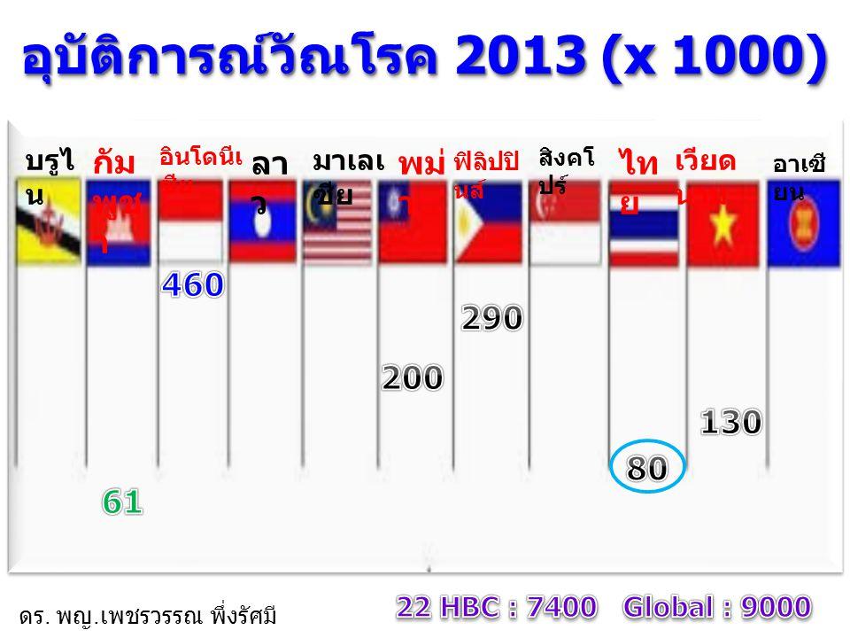 ประเทศไทยมี XDR-TB เท่าไหร่ ?? ดร. พญ. เพชรวรรณ พึ่งรัศมี