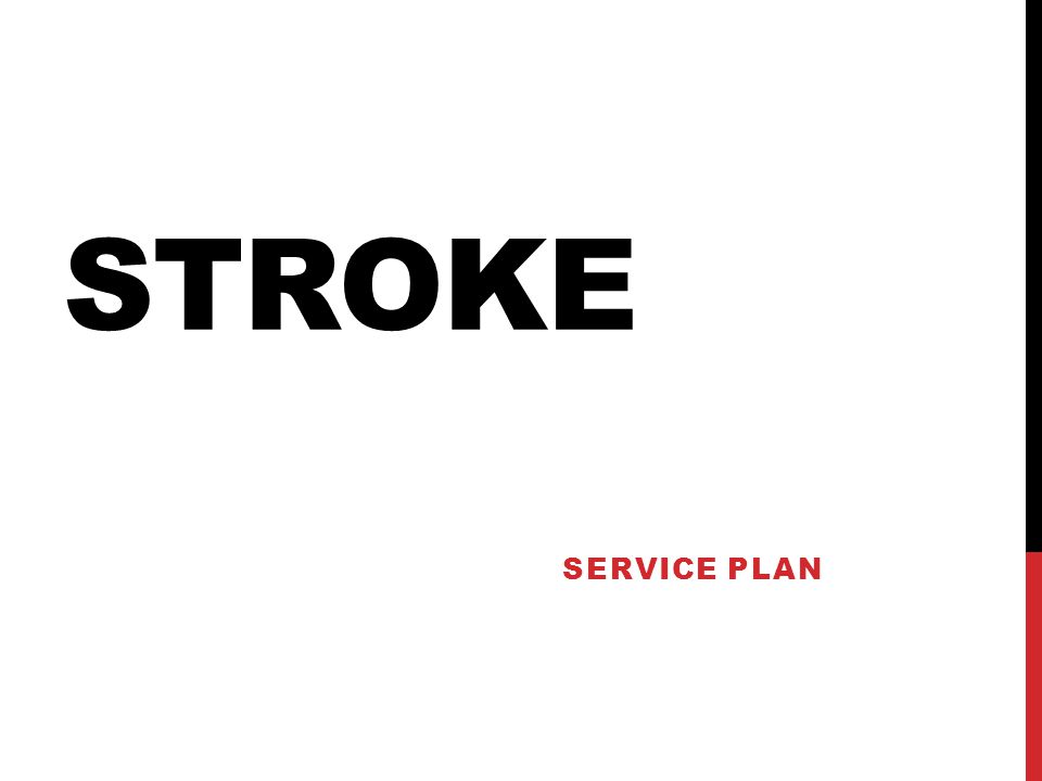 STROKE SERVICE PLAN
