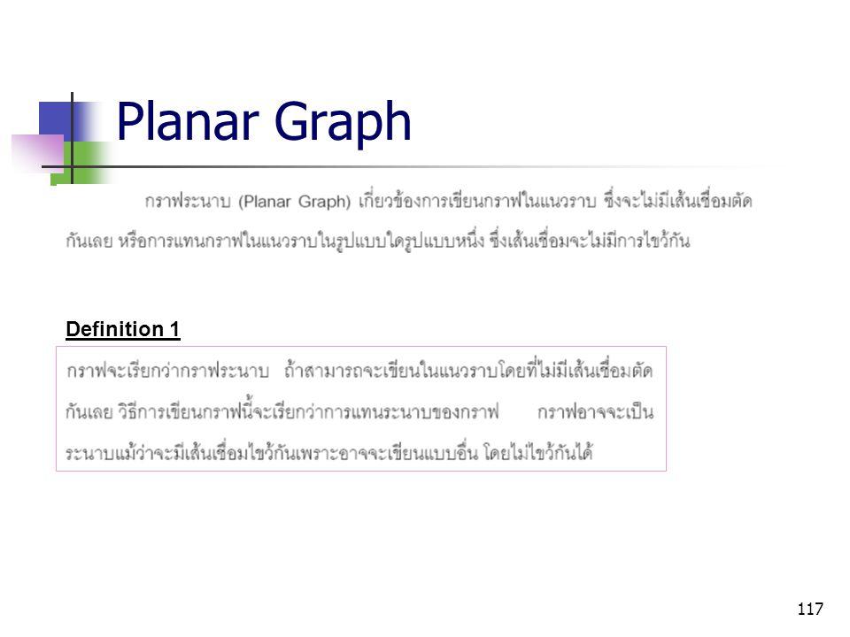 117 Planar Graph Definition 1