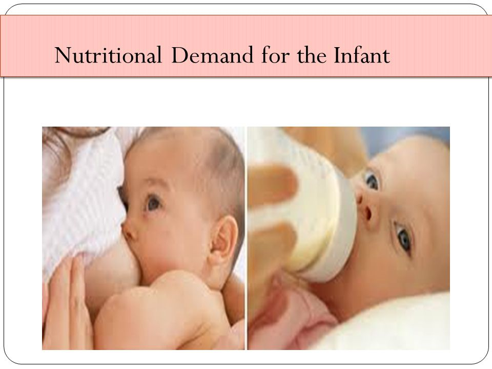Nutritional Demand for the Infant