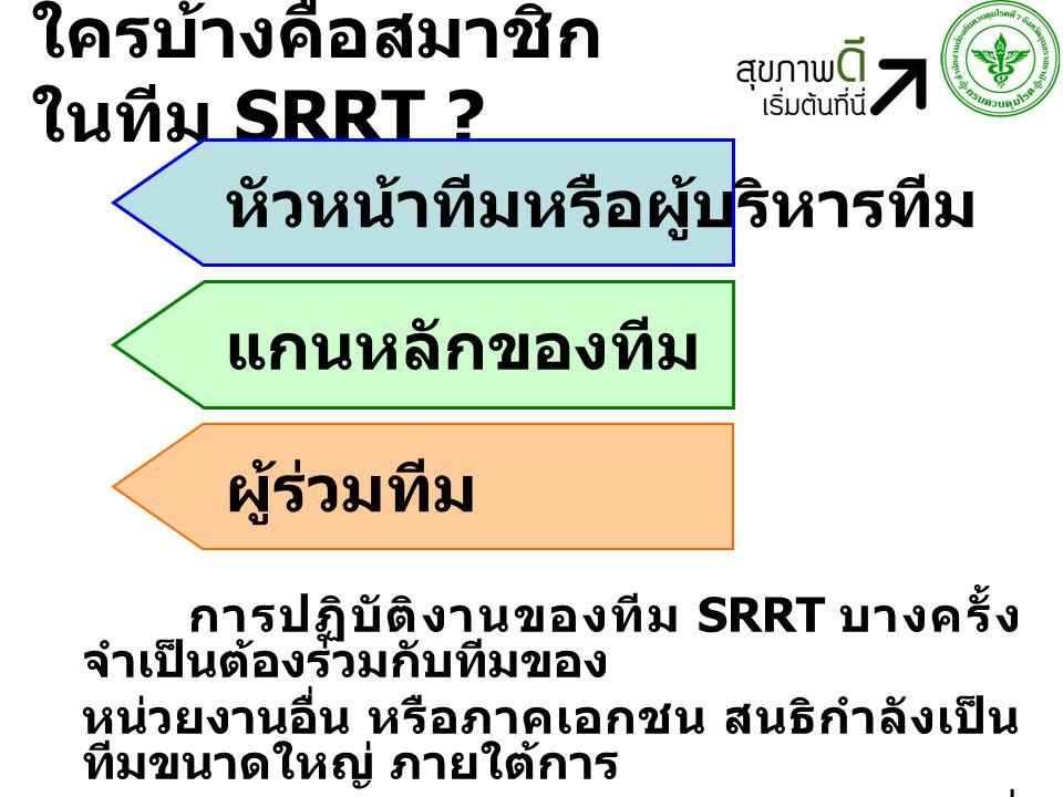 ใครบ้างคือสมาชิก ในทีม SRRT .