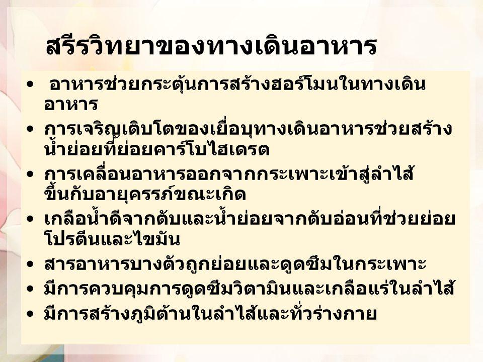 อายุที่เริ่มให้อาหารเสริม ที่กำหนดโดยองค์กรอื่น WHO 2001: 6 เดือน กระทรวงสาธารณสุข ประเทศไทย: 6 เดือน ชมรมโภชนาการเด็กแห่งประเทศไทย 2550: 4-6 เดือน AAP 2008: 4-6 เดือน ESPGHAN 2008: 17 – 26 สัปดาห์