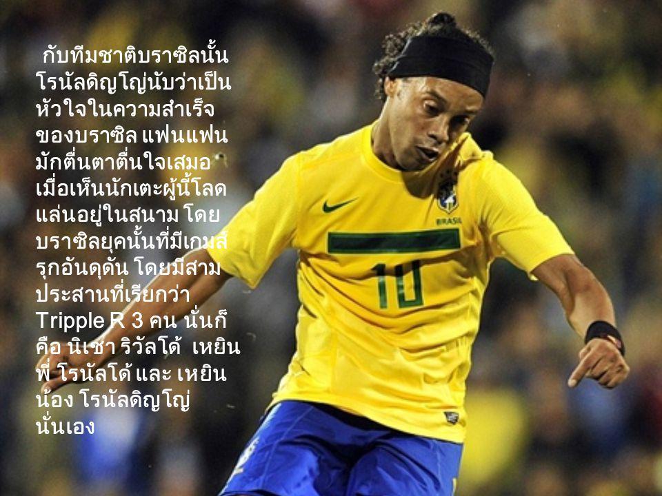 เกียรติประวัติ รางวัลที่ได้ส่วนตัว FIFA World Player of the Year ปี 2547 2548 World Soccer Player of the Year ปี 2547 2548 European Footballer of the Year ปี 2548 FIFPro World Player of the Year ปี 2548 2549 UEFA Club Footballer of the Year ปี 2548 - 06 ระดับสโมสร แชมป์ ลา ลีกา 2548 2549 แชมป์ ซูเปอร์โคปา เดอ เอสปานา 2548 แชมป์ ยูฟ่าแชมเปี้ยนส์ลีก 2549 ระดับนานาชาติ แชมป์ฟุตบอลเยาวชนโลกอายุ 17 ปี 2540 แชมป์ โคปา อเมริกา 2542 2547 แชมป์ ฟุตบอลโลก 2002 แชมป์ คอนเฟเดอเรชันส์ คัพ 2548