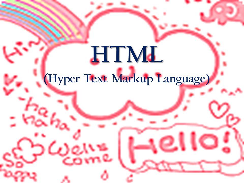 HTML (Hyper Text Markup Language) เป็นภาษา มาตรฐานสากลที่ใช้นำเสนอข้อมูลแบบ ผสมผสานในการสื่อสารแบบ World-Wide- Web ( หรือเรียกสั้นๆว่า Web) ซึ่งเป็นการ เชื่อมต่อ Web ของเครือข่ายของเครื่อง คอมพิวเตอร์ทั่วโลก (Internet) รูปแบบ หนึ่ง เป็นภาษาที่ถูกพัฒนาโดย World Wide Web Consortium (W3C) จาก แม่แบบของภาษา SGML (Standard Generalized Markup Language) โดยตัด ความสามารถบางส่วนออกไป เพื่อให้ สามารถทำความเข้าใจและเรียนรู้ได้ง่าย ข้อมูลในรูปแบบต่างๆไม่ว่าจะเป็นข้อความ รูปภาพ เสียง ภาพเคลื่อนไหวจะถูก เชื่อมโยงเข้าหากัน ด้วยชุดคำสั่งต่างๆ เพื่อให้แสดงผล