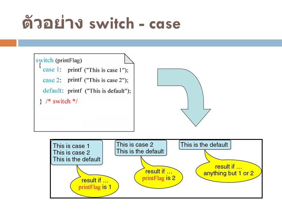 ตัวอย่าง switch - case