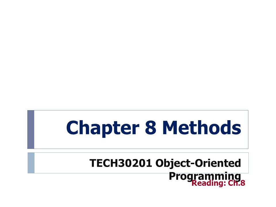 Method Overloading 22 Method overloading สามารถทำได้ถ้าหากว่ามี อย่างน้อยหนึ่งข้อต่อไปนี้เป็นจริง (1) จำนวน parameter ของเมธอดที่จะ overload นั้นไม่เท่ากัน (2) ชนิดข้อมูลของ parameter นั้นต่างกันอย่าง น้อยหนึ่งตัว public class MethodOverloading { public static int add(int x, int y) { return x+y; } public static int add(int x, int y, int z) { return x+y+z; } public static double add(double x, double y) { return x+y; } public class MethodOverloading { public static int add(int x, int y) { return x+y; } public static int add(int x, int y, int z) { return x+y+z; } public static double add(double x, double y) { return x+y; }