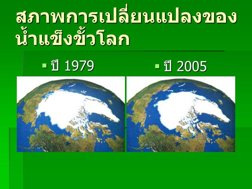 สภาพการเปลี่ยนแปลงของ น้ำแข็งขั้วโลก  ปี 1979  ปี 2005