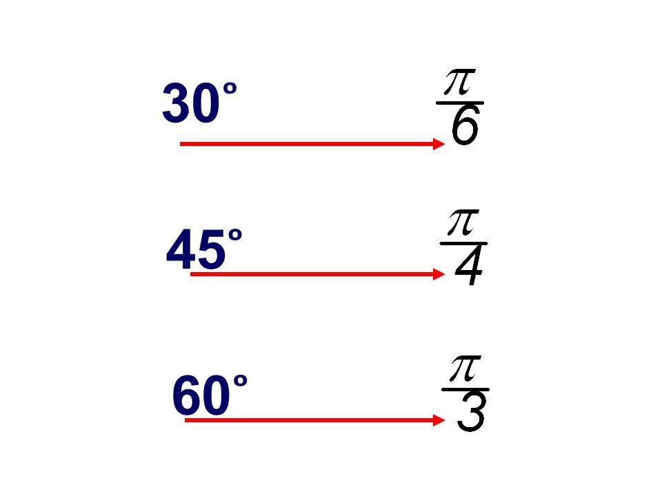 60 ̊ 45 ̊ 30 ̊