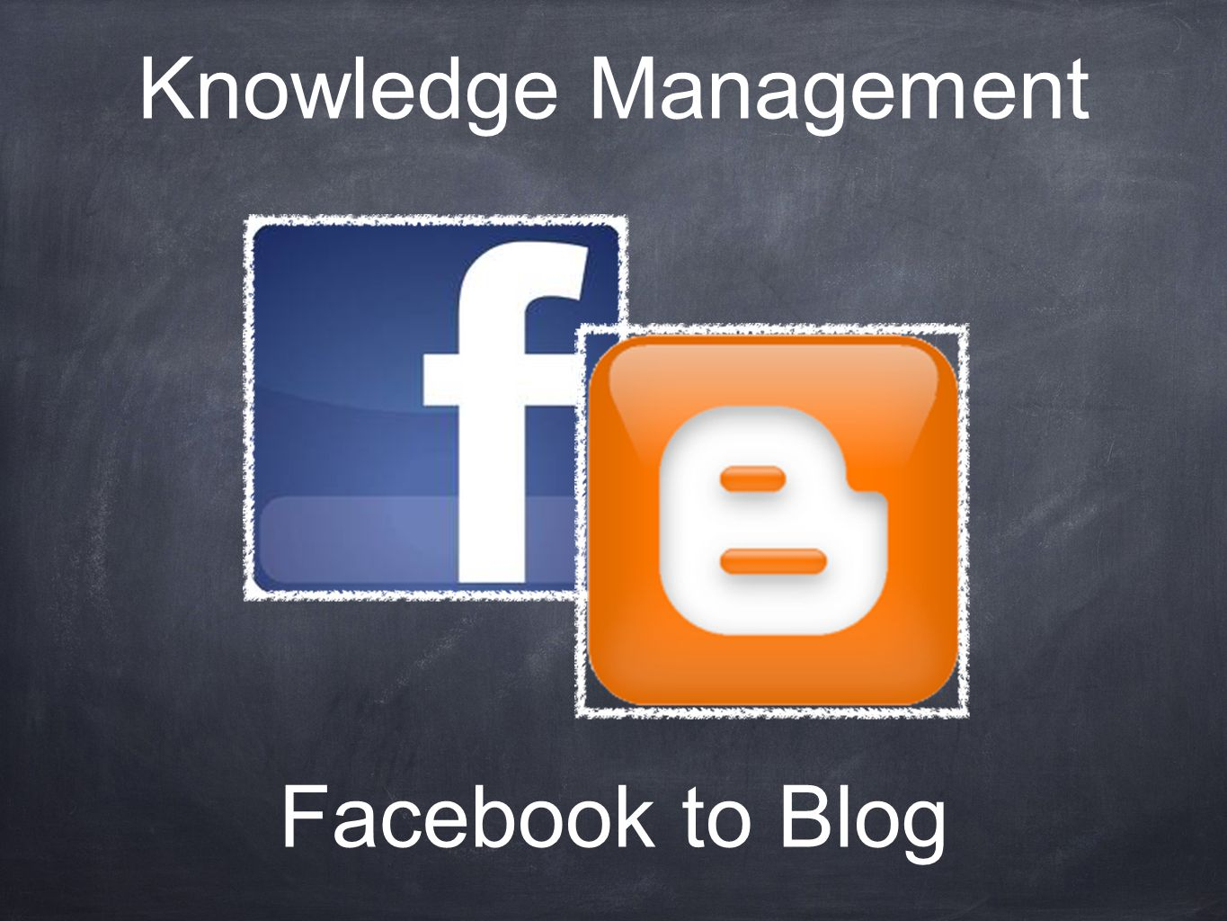 Facebook to Blog Knowledge Management