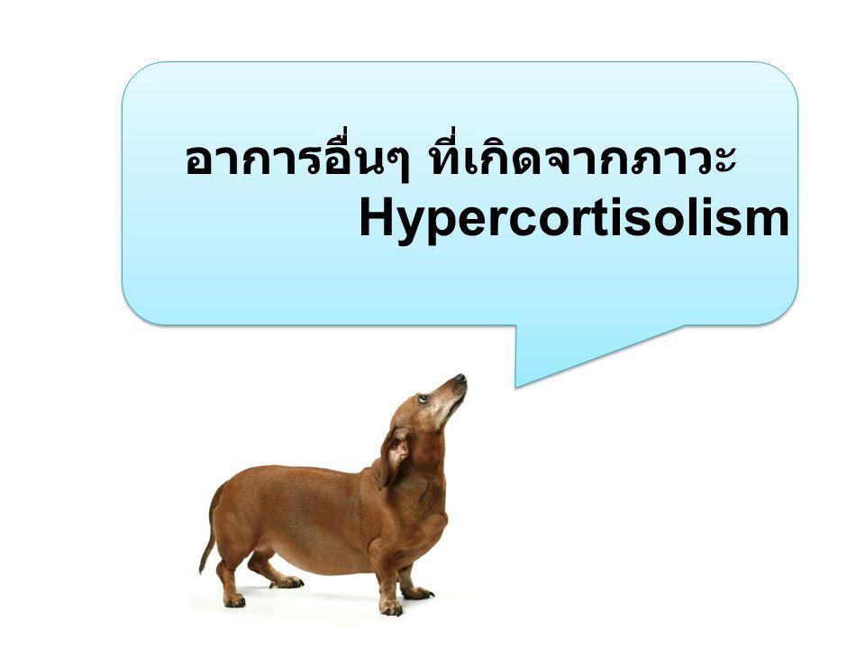 อาการอื่นๆ ที่เกิดจากภาวะ Hypercortisolism
