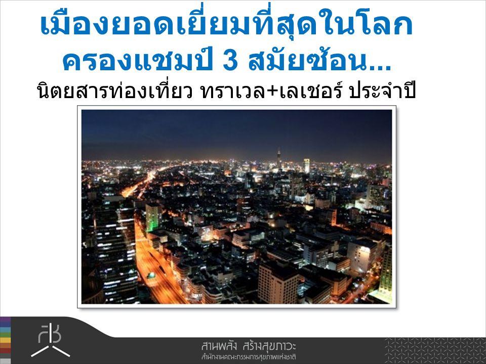 อันดับ 3 เมืองขวัญใจ นักท่องเที่ยว เว็บไซต์ ซีเอ็นเอ็นโก ( www.cnngo.com)