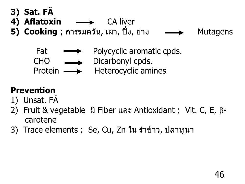Prevention 1)  -3,  -6, MUFA cholesterol 2) Antioxidants ; Vit. C, E,  -carotene ; ROS CAD Promotion 1)Smoking ; Cigarette nicotine nitrosamine CA