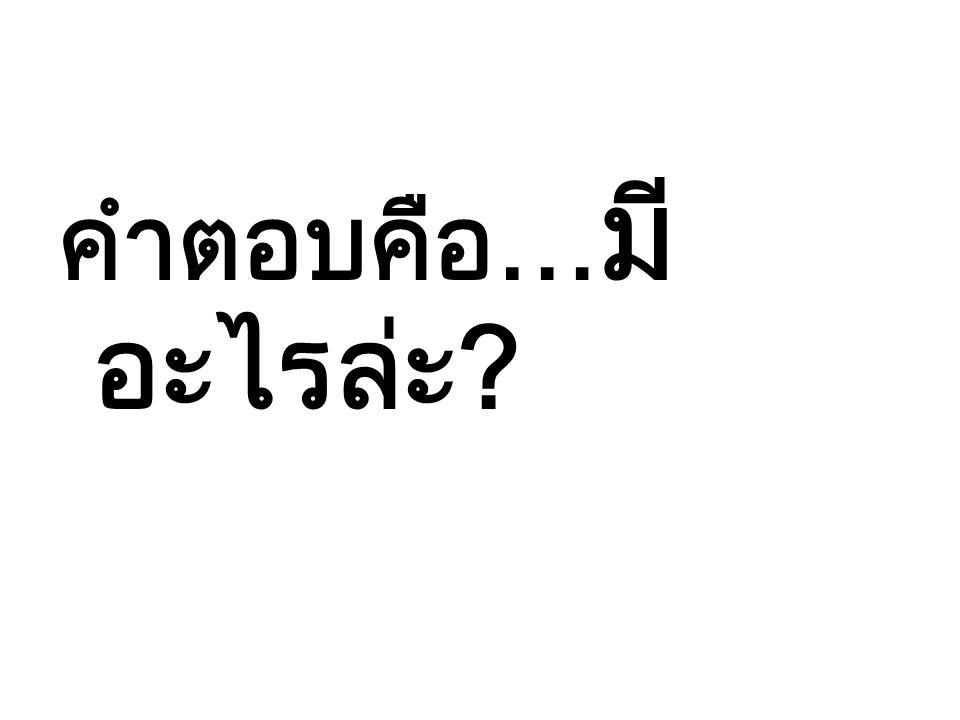 คำตอบคือ… มี อะไรล่ะ?