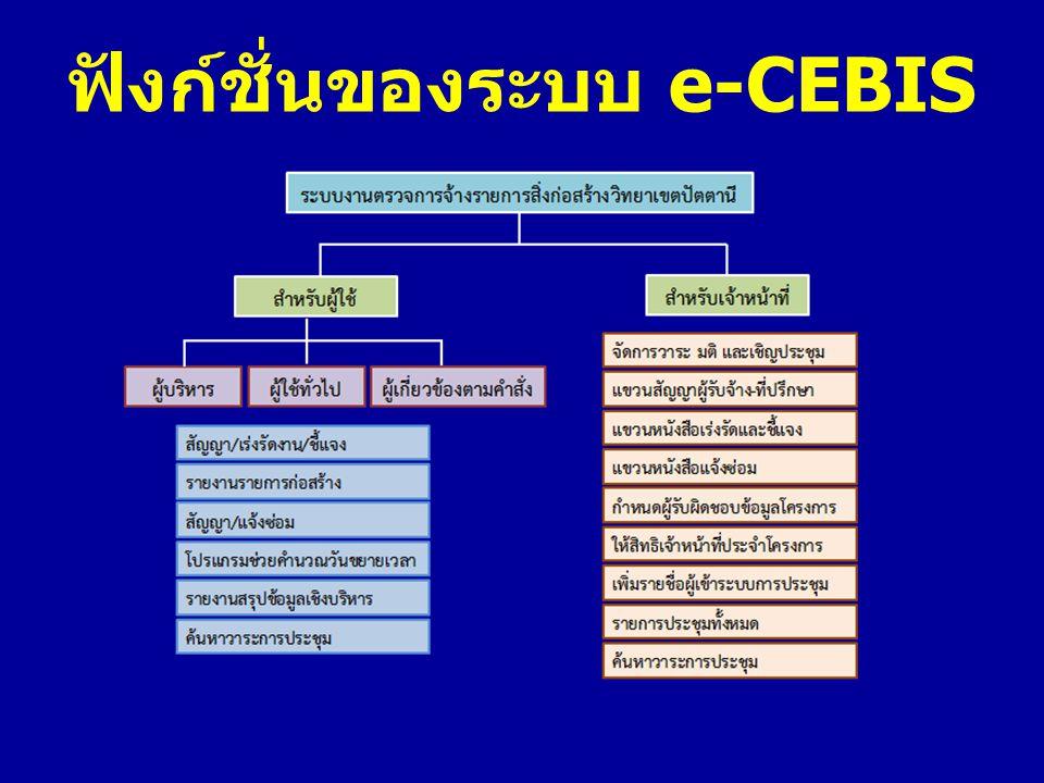 ฟังก์ชั่นของระบบ e-CEBIS