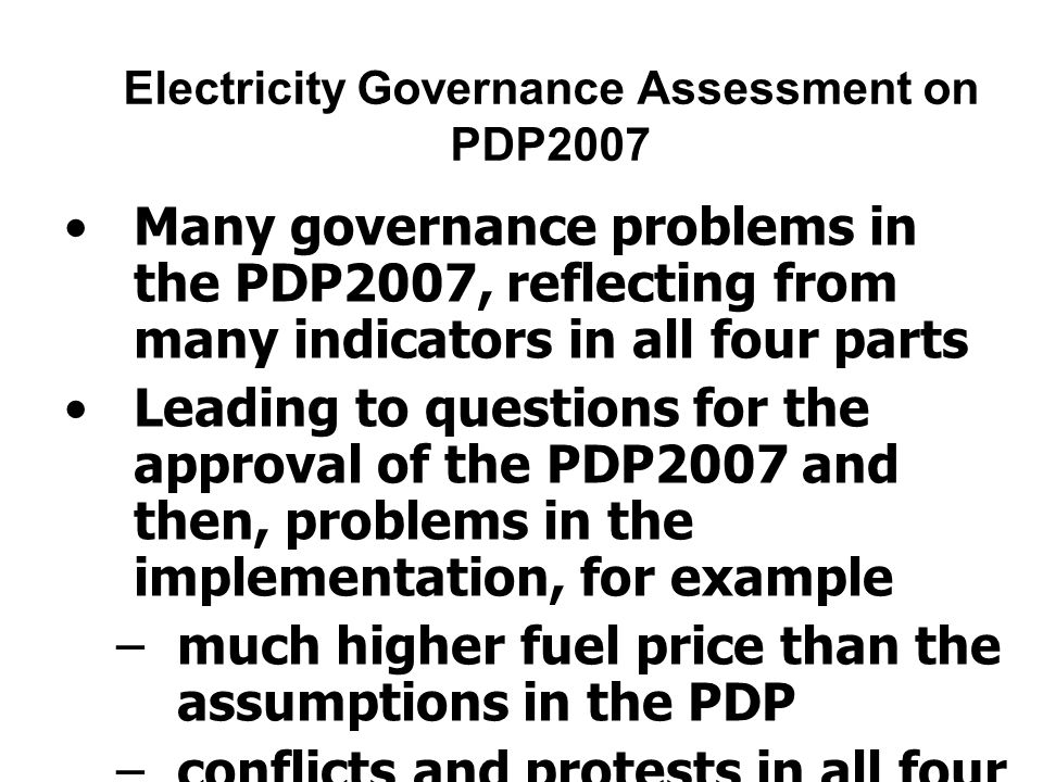 The key recommendation from EGT on PDP