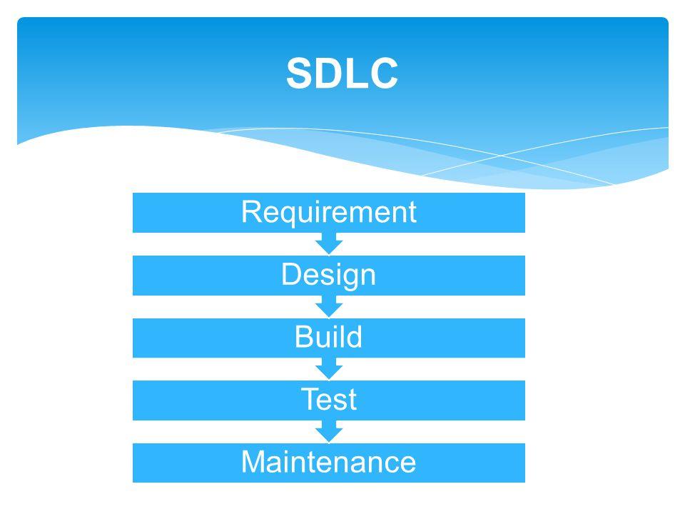 Maintenance Test Build Design Requirement SDLC