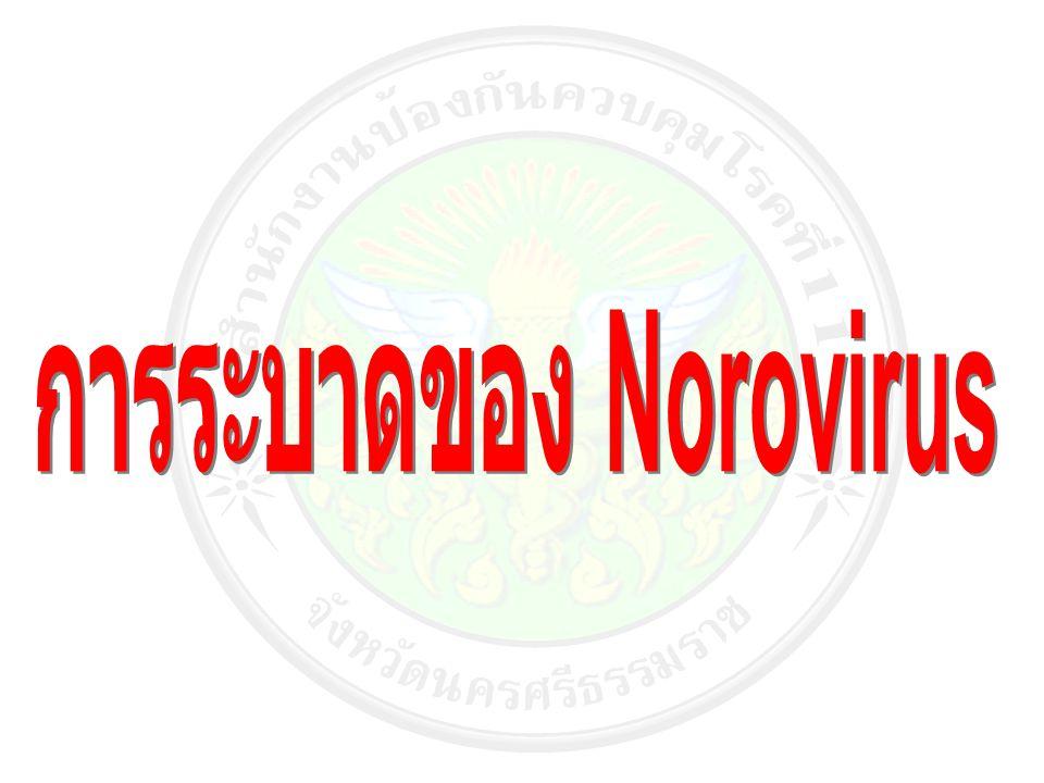 - จังหวัดกระบี่ มีการระบาดของโรคติดเชื้อทางเดินอาหาร เกิดจากเชื้อ Norovirus โดยเริ่มมีการระบาดของตั้งแต่ปี พ.