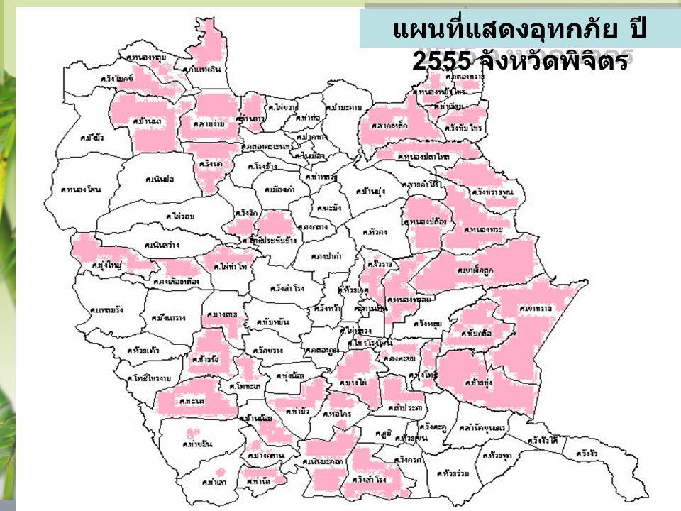 แผนที่แสดงอุทกภัย ปี 2555 จังหวัดพิจิตร