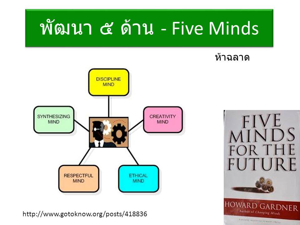 พัฒนา ๕ ด้าน - Five Minds http://www.gotoknow.org/posts/418836 ห้าฉลาด