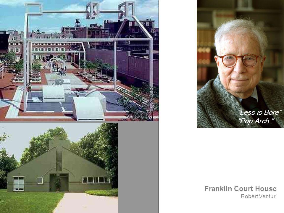 "Franklin Court House Robert Venturi ""Less is Bore"" ""Pop Arch."""