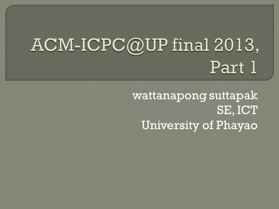 wattanapong suttapak SE, ICT University of Phayao