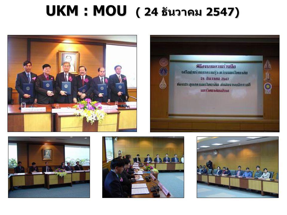 UKM : MOU ( 24 ธันวาคม 2547)