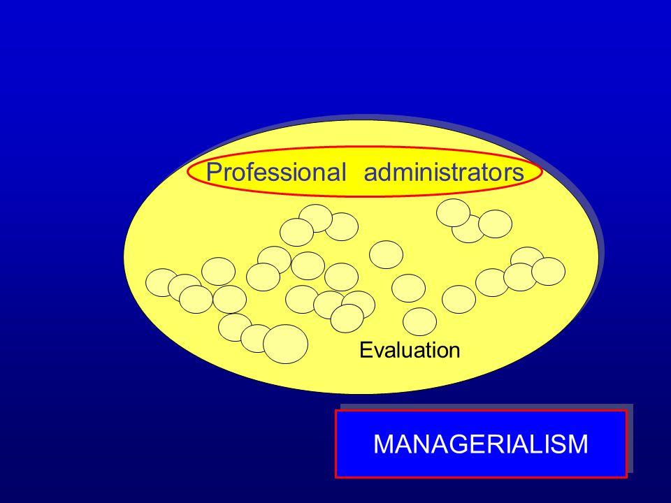 Professional administrators MANAGERIALISM Evaluation