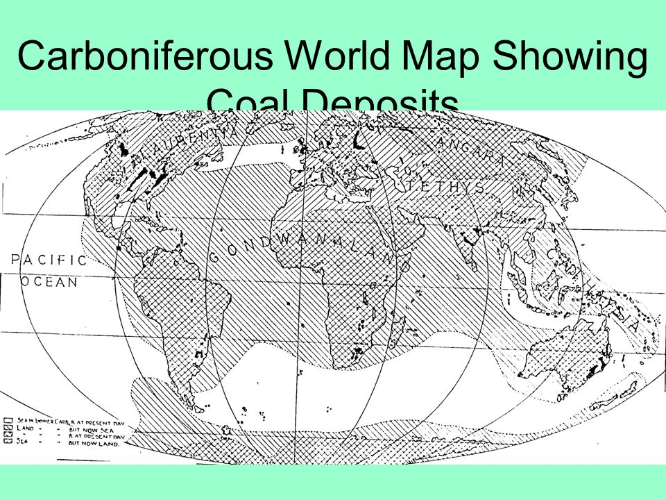 Carboniferous World Map Showing Coal Deposits