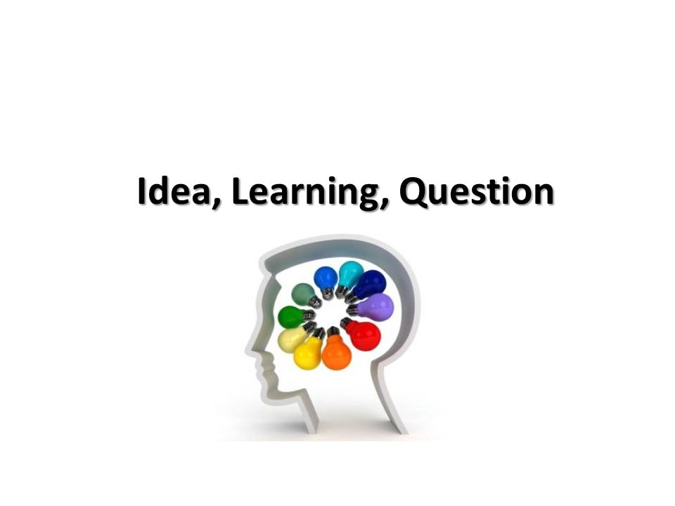 Idea, Learning, Question