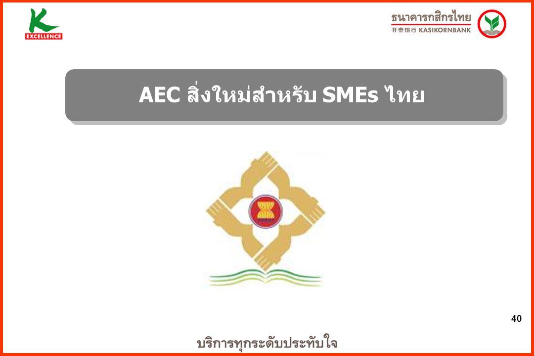 40 AEC สิ่งใหม่สำหรับ SMEs ไทย