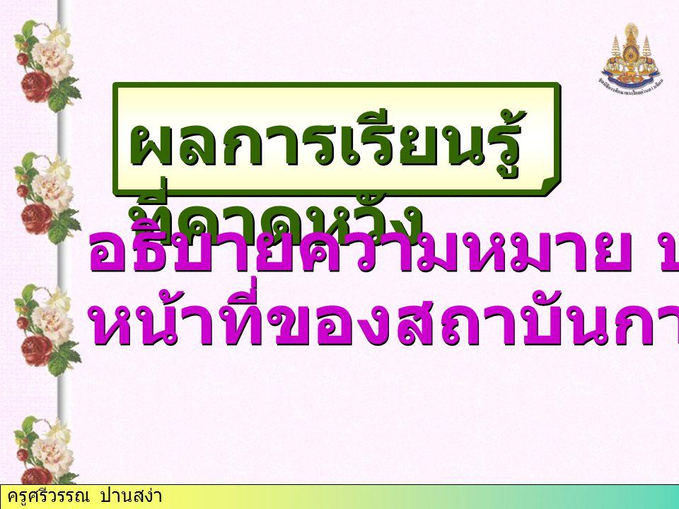 ครูศรีวรรณ ปานสง่า 12. บรรษัทตลาดรอง สินเชื่อ ที่อยู่อาศัย 13. บรรษัทบริหาร สินทรัพย์ไทย