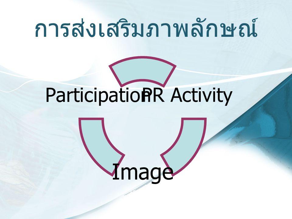 การส่งเสริมภาพลักษณ์ PR Activity Image Participation