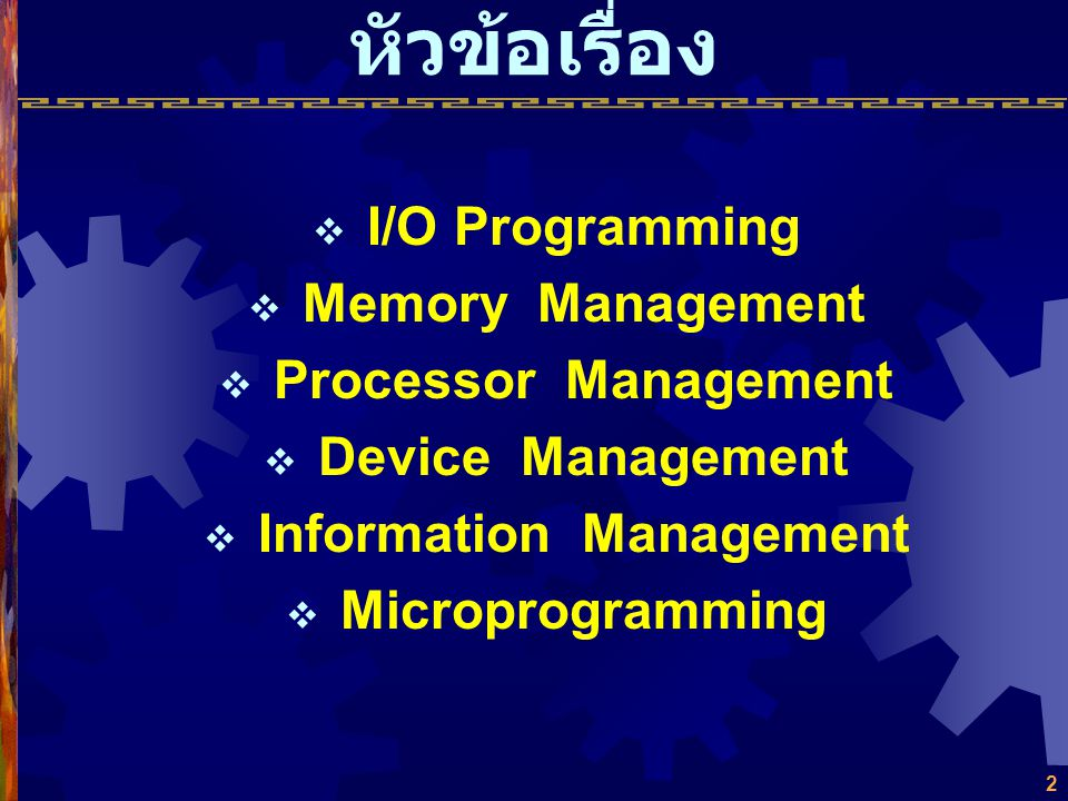 บทที่ 7 Operating Systems Intro. to Computer Organization & Architecture Intro. to