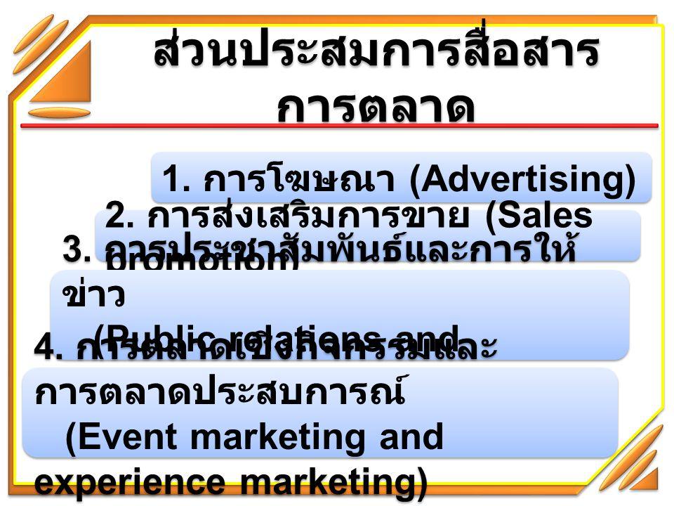 ส่วนประสมการสื่อสาร การตลาด ( ต่อ ) 5.