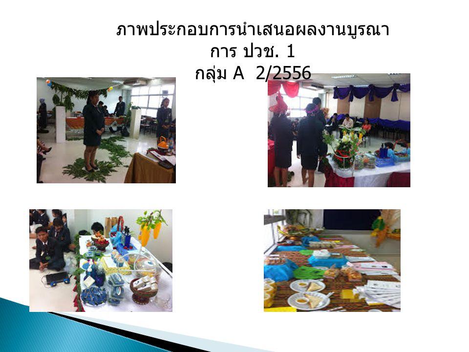 ภาพประกอบการนำเสนอผลงานบูรณา การ ปวช. 1 กลุ่ม A 2/2556