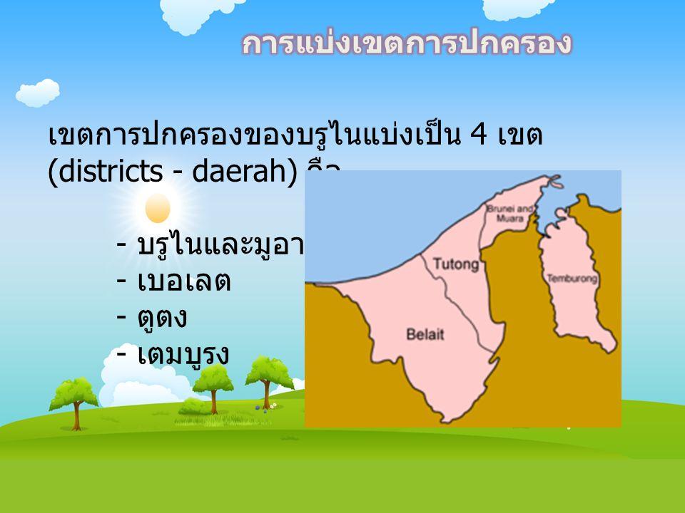 เขตการปกครองของบรูไนแบ่งเป็น 4 เขต (districts - daerah) คือ - บรูไนและมูอารา - เบอเลต - ตูตง - เตมบูรง