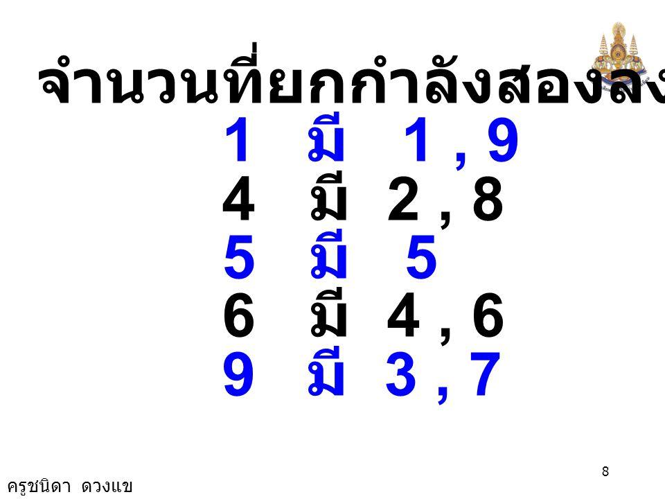ครูชนิดา ดวงแข 7 ขั้นที่ 5 ดำเนินตามหลักการขั้นที่ 3 และ ขั้นที่ 4 ต่อไปเรื่อยๆ จนกระทั่งได้ จำนวนตามที่ต้องการ