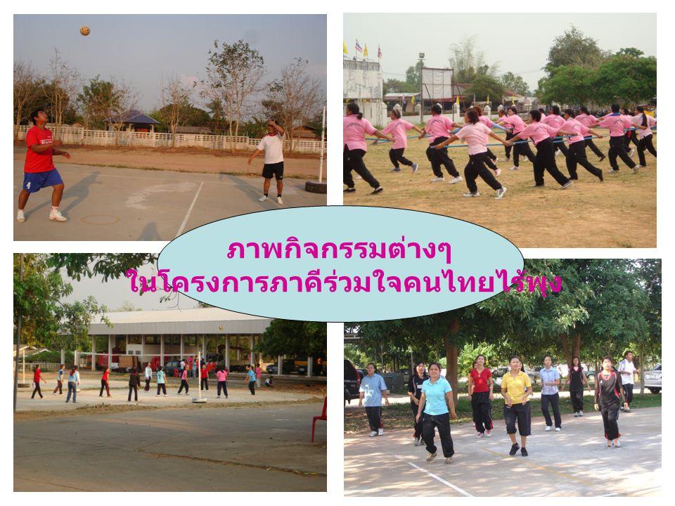 ภาพกิจกรรมต่างๆ ในโครงการภาคีร่วมใจคนไทยไร้พุง