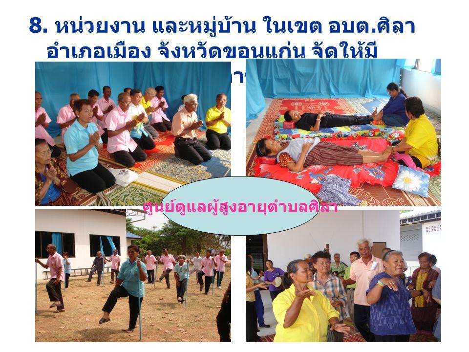 การสำรวจข้อมูลโดยชั่งน้ำหนักวัดรอบเอวในโครงการภาคี ร่วมใจคนไทยไร้พุง ตำบลศิลา ปี 2551 กิจกรรมการดำเนินงานตามโครงการ ภาคีร่วมใจคนไทยไร้พุงตำบลศิลา