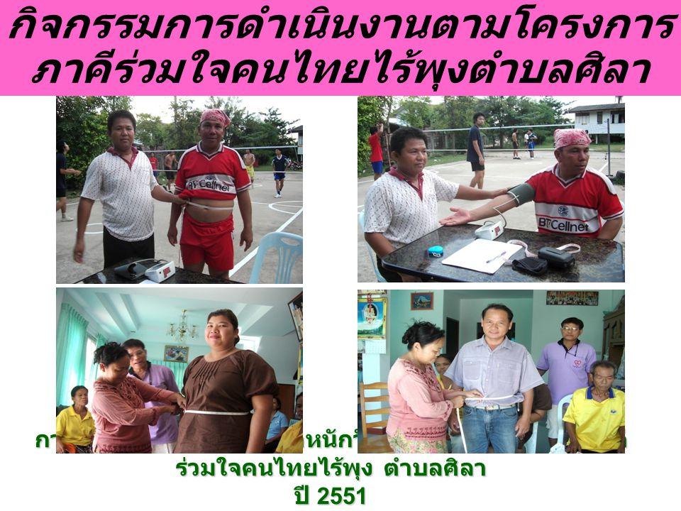 นายก และรองนายก อบต. ศิลา เข้าร่วมโครงการภาคีร่วมใจคนไทยไร้พุงตำบลศิลา