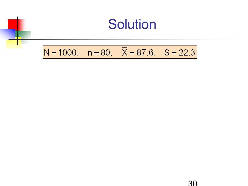 30 Solution