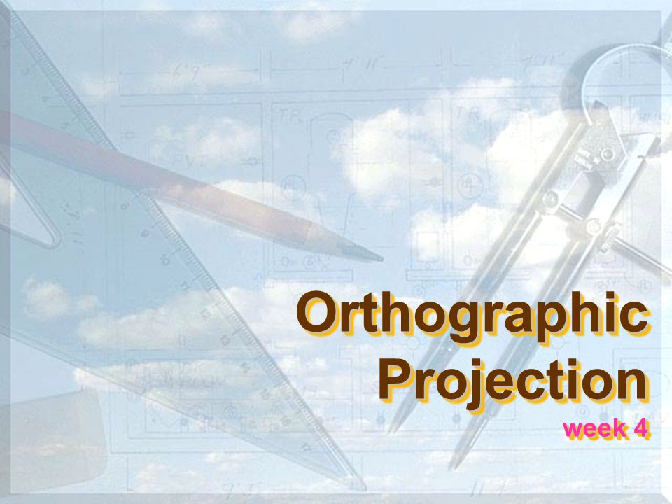 5 Orthographic projection Orthographic projection is a parallel projection technique in which the parallel lines of sight are perpendicular to the projection plane ความหมาย Object views from top Projection plane 1 2 3 4 512 34