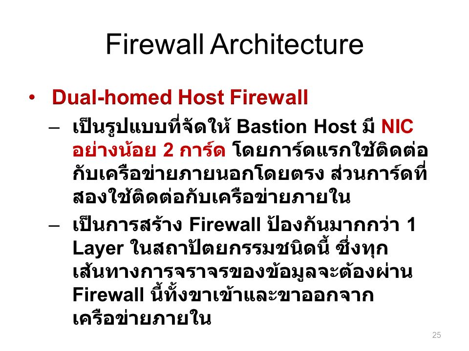 Firewall Architecture 25